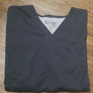 Grey's Anatomy scrub top gray